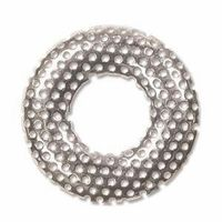 Silver Plated Sieve Donut Brooch - 1 brooch (sieve and base) for jewellery making and beadwork